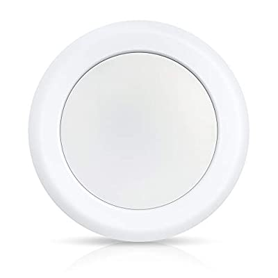 """ECOELER 6 inch Dimmable 3000K Warm White LED Disk Light Flush Mount Recessed Retrofit Ceiling Lights, 15W, 1050lm, Energy Star & UL-Listed, Installs into 4/6"""" Junction Box for Home Improved, Pack of 1"""
