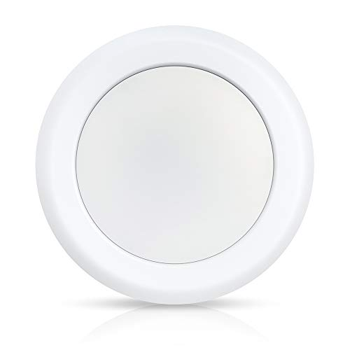 ECOELER 5/6 Inch LED Dimmable Disk Light, Aluminum Baffle Trim, 4000K Cool White, 15W Flush Mount Ceiling Recessed Light Fixture, 1100lm, Energy Star & UL-Listed,Damp Rated,Pack of 1