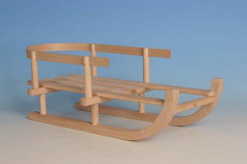 Puppen-Schlitten Holz, L:46cm/B:20cm