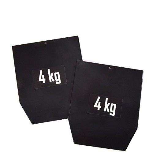 sveltus Platte Stahl 1799-1 Gewicht für Gewichtsweste Unisex Erwachsene, Schwarz