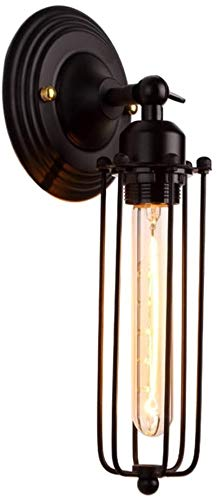 Aplique de interior American Country Wall Light Industrial Retro Ajustable Wall Sconence DESVÁN Retro E27 iluminación interior de la lámpara de pared del granero de metal con cableado for la escalera