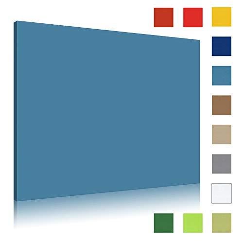 Akustikbild AbsorPic Stoff Farbe Blau | Premium Schall Absorber verbessert die Raumakustik | Viele Größen und Farben | 50 x 50 x 3cm | Made in GERMANY, Köln