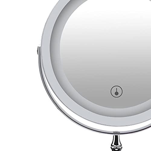 ZXD Wind Vanity Mirror 7 inch USB Rechargeable dimmable Desktop Desktop Double-Sided Makeup Dormitory Vanity Mirror