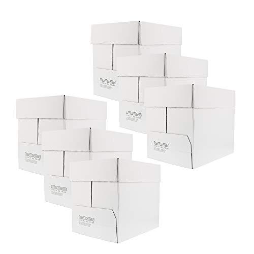 ohmtronixx Druckerpapier Kopierpapier DIN A4, 80g Papier holzfrei weiß, 6 Kartons mit jeweils 5 Packungen, 500 Blatt pro Packung