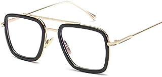 Iron Man Fashion Outdoor Square Sunglasses Gold Frame Optical Lenses