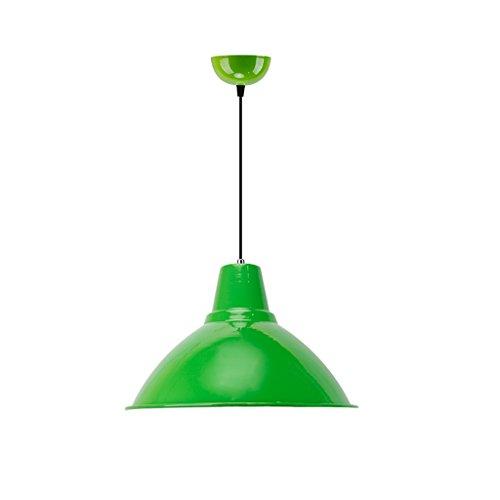 Lustre loft rétro industrielle coquille de vent ombre moderne minimaliste restaurant couvercle de la tête unique petit lustre couleur simple pendentif lampe (sans source lumineuse)