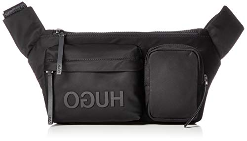 HUGO Herren Record_Waist Crossbody Bag, Schwarz (Black), 17x7x34 cm