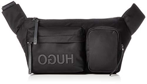 HUGO Herren Record_waist Bag Stoff-und Strandtasche, Schwarz (Black), 17x7x34 cm