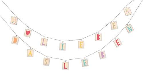 Happy me Buchstaben-Lichterkette | Lichterkette mit 20 LEDs zum Selbstgestalten | Länge 2,60 m