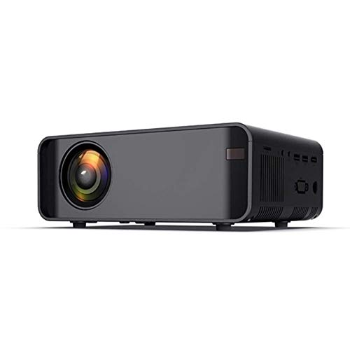 Mini Portable Video Projector Smartphone Portable Video Projector Supports 1080P, 30,000 Hours LED Light, Projection Diameter 1.2-2m, Compatible with HDMI/VGA/USB TV Box/Laptop / PS4