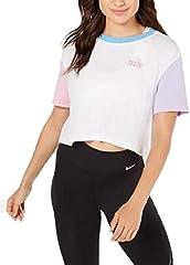 Nike Camiseta Deportiva de Algodón Blanco para Mujer