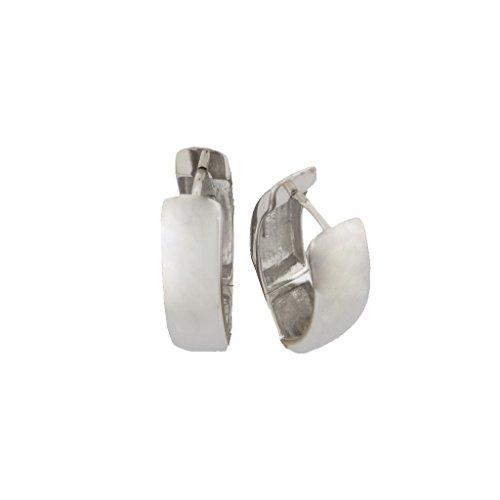 Basic Silber Ohrringe SCR44 Damen Creolen Sterling-Silber 925 Silber