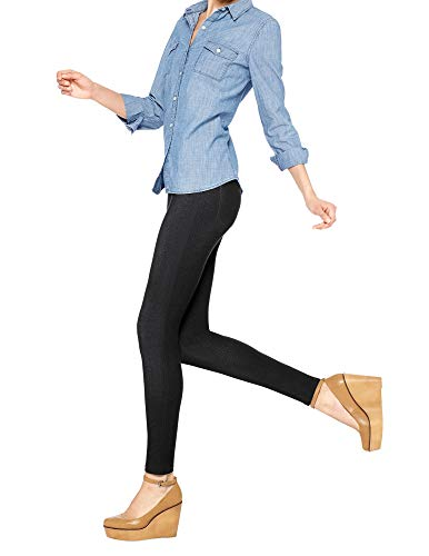 No Nonsense Women's Denim Legging, Black, Small