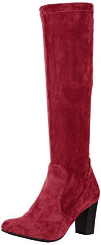 CAPRICE Damen Britt Hohe Stiefel, Rot (Bordeaux Stre. 544), 38 EU