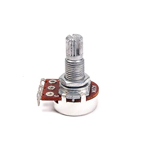 Artibetter A20K Gitarren-Potentiometer Shaft Audio Taper Potentiometer Split Shaft Curved Pot Lautstärke- und Klangregler