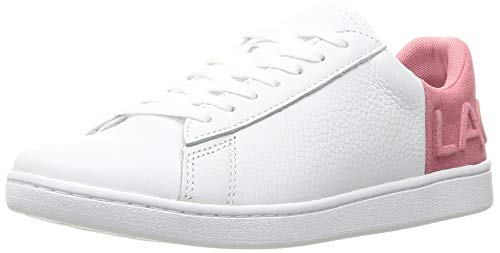 Lacoste Damen Carnaby Evo 419 2 SFA Sneaker, Weiß (White/Pink B53), 36 EU