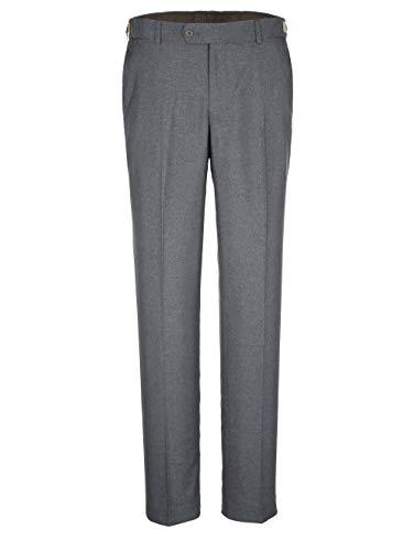 Men Plus by HAPPYsize Herren-Hose Baukasten-System – Anzug-Hose vielseitig kombinierbar, größenverstellbare Stoff-Hose in Grau Gr. 68