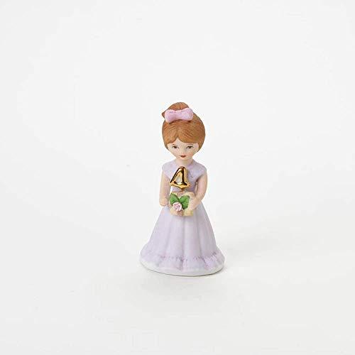 "Enesco Growing Up Girls ""Brunette Age 4"" Porcelain Figurine  3.5"""