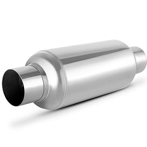 2.5 Inch Inside Inlet Muffler, AUTOSAVER88 Universal Stainless Steel Welded Exhaust Muffler Deep Sound for Cars, 14