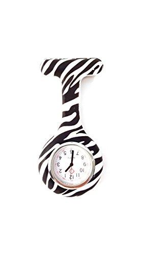 Pulsuhr/Schwesternuhr in individuellem Zebra Design
