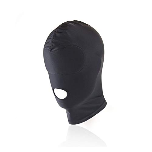 XO-KOX Capucha unisex Cubierta de cabeza transpirable Sombrerería para adultos - Máscara de perro animal Sexy Ojo abierto Disfraz de Cosplay con capucha y boca