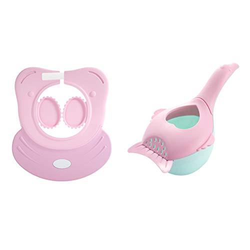 biteri Shampoo Schutz Verstellbarer Shampoo Schutz Duschhaube Kinder Badekappe,Weiche Silikonhaut, Augenschutz und Ohrenschutz, Haarwaschhilfe, Kinder Duschkappe für Babypflege