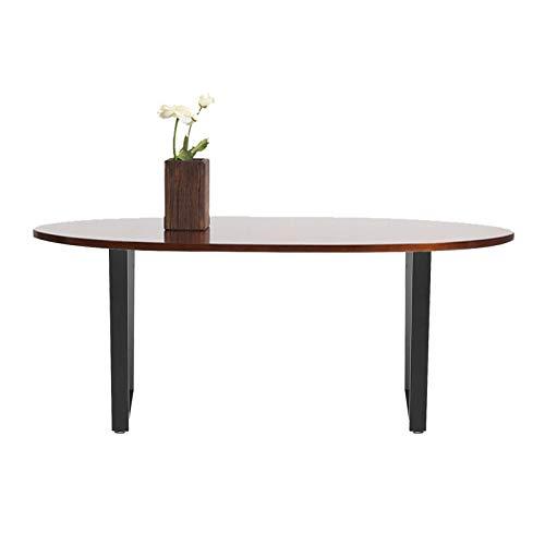 Mesa de café DIY mesa de comedor patas industrial vintage negro muebles de acero para sala de estar, mesa lateral moderna mesa centro de madera para el hogar