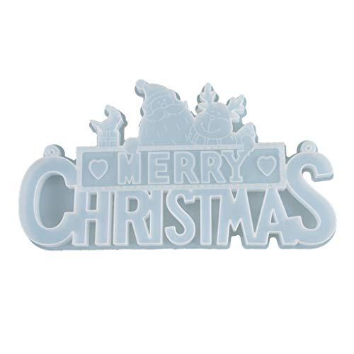N/A. Molde de resina epoxi de cristal letras de Navidad enumeradas decoración,Colgante de fundición de silicona molde DIY manualidades joyería haciendo herramientas