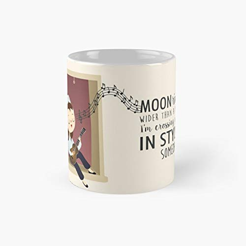 Moon River Lyrics by Audrey Hepburn - Taza clásica de desayuno en Tiffany's el mejor regalo divertidas tazas de café de 325 ml