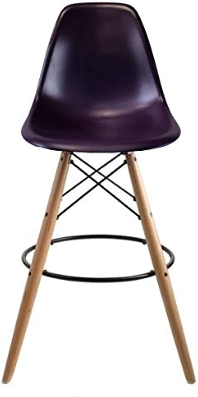 Take Me Home Furniture Eames Eiffel Stool Wood 26  in Purple