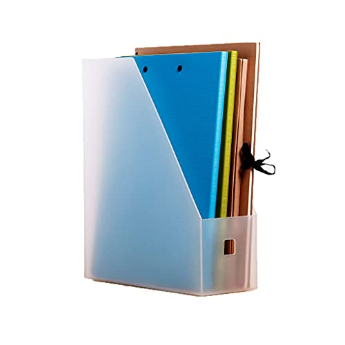 Haodan electronics Cookbook Holders Single Plastic Desk Organizer,Chuangyi Color File Column Turdy Vertical Folder for Office Organization and Storage Book Stand (Color : White)