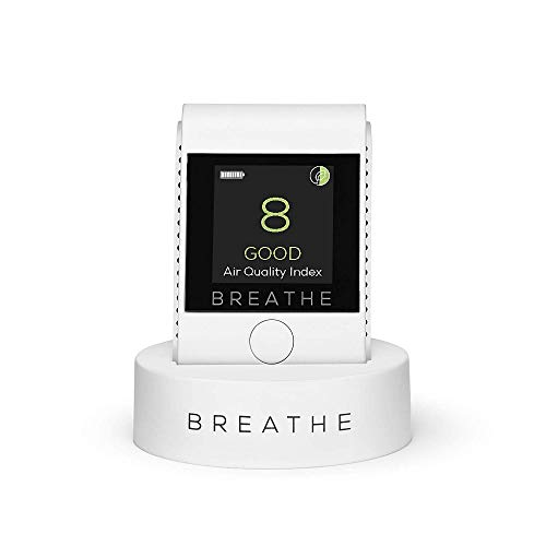 BREATHE|Smart Portable Pollution & Air Quality Monitor, Measures Outdoor and Indoor Air Quality. Monitors Dust, Smoke, PM2.5 Air Pollution. Air Quality Tester - Reduce Your Exposure to Toxic Air