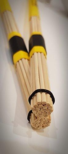 Red Roddy - Canna da pesca in bambù, colore: Giallo