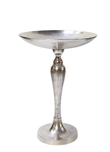 Kaheku Schale auf Fuß Cameo Aluminium vernickelt, Durchmesser 29 cm, Höhe 36 cm 1229000093