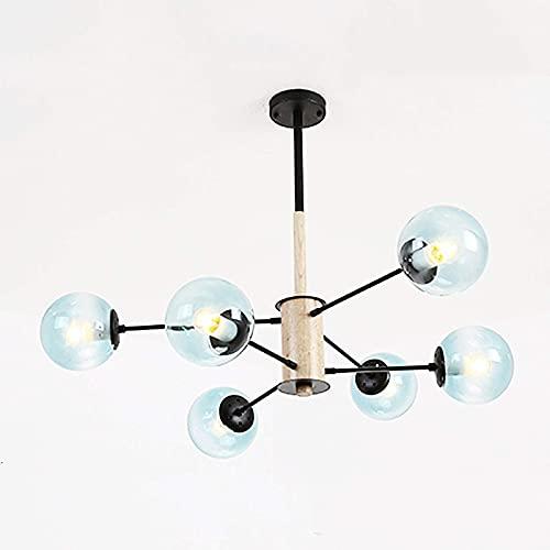 LLLKKK Lámpara de techo E27 satélite, bola de cristal antigua, decorativa, para salón, restaurante, dormitorio, lámpara de techo, blanco leche, 16 luces