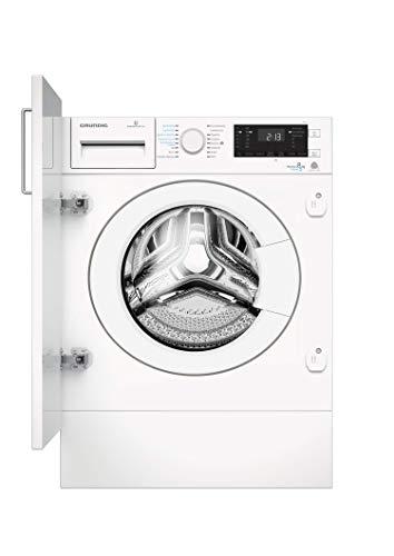 GRUNDIG GWDI 854 Integrierbar Waschtrockner/ 1400 U/min/LC-Display mit Sensortasten/ 8 kg Waschen/ 5 kg Trocknen/Wash&Dry, Weiß