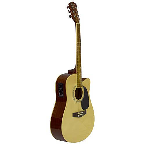Glen Burton GA204BCO-NT Acoustic Electric Cutaway Guitar, Natural