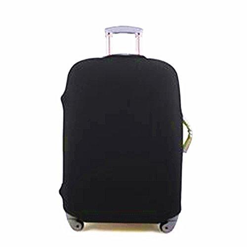 Zantec Candy Color elástico Draw Bar Caja Cover maletín Carcasa kofferabdeckung, Negro, L (26-30 inches)