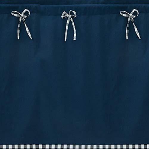 cortinas de cocina cortas azul marino