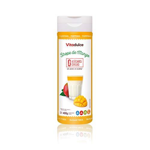 Sirope de mango sin azúcar, Topping de mango, Sirope bajo en calorías 400 gr - Vitadulce