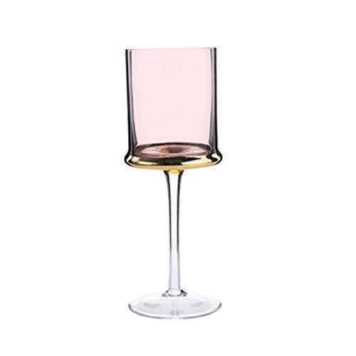 LIZCX YAOQIHAI Copa de Vidrio Chapado en Estilo Europeo Home Creative Goblet Champagne Glass Rojo Vino Copa de Vidrio Hotel Gafas de Boda Regalo Tabho (Color : 250ml)
