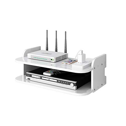 JCNFA-BOEKENPLANK Wandplank, Set-top Box Shelf, Console Storage Unit Organization, Frame DVD, Witte Zwevende Tv Aan De Muur, 3 Maten (Color : White, Size : A)