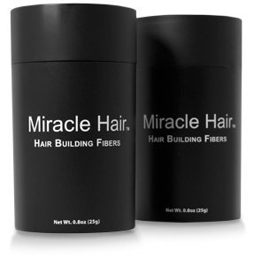 MIRACLE HAIR 225 Day Supply: Premium Hair Fibers For Thinning Hair - Thicker, Fuller Looking Hair In 60 Seconds! (BROWN)