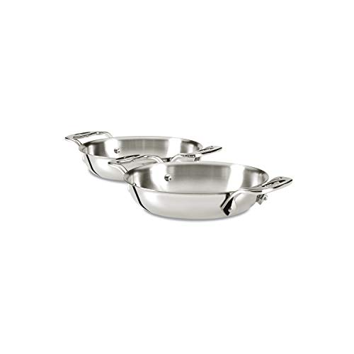 All-Clad E849B264 Stainless Steel Gratins, Silver, Set of Two
