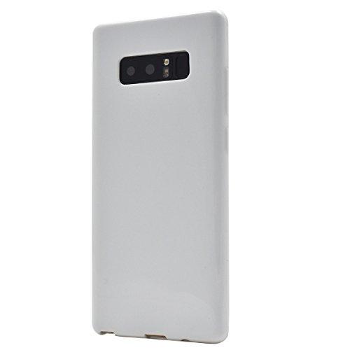PLATA Galaxy Note8 SC-01K / SCV37 ソフトケース スマホケース 【 ホワイト 】 シンプル に スマホ を 保護 する しなやかさと 耐久性 を備えた 衝撃 に強い TPU カバー