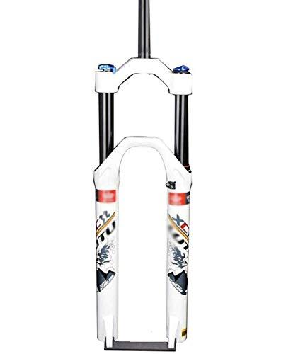 26er 27.5er 29er MTB Horquillas de suspensión, horquilla de aire Horquilla de choque de bicicleta de montaña Aleación de aluminio Freno de disco Recorrido 123 mm 1-1 / 8 'Horquilla de suspensión de b