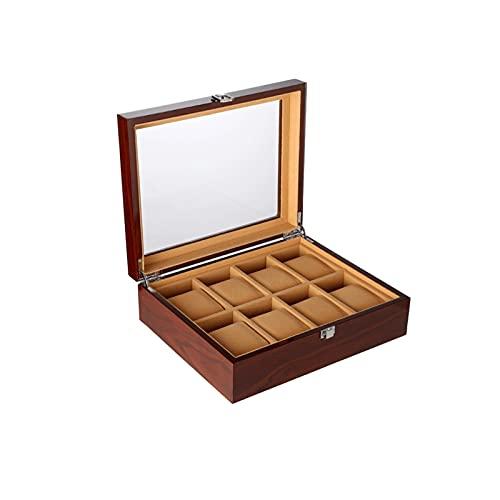 QRQFTNHB Reloj Organizador Cajas Joyas Cajas para Niñas Cajas De Acabado De Joyas Cajas De Almacenamiento, 25 * 21 * 8.5cm / 9.8 × 8.2 × 3.3 Pulgadas