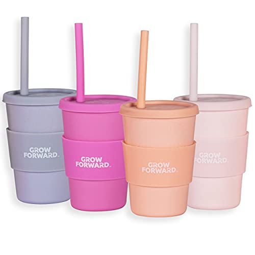 Grow Forward Bamboo Cups - Cups with Straws and Lids - Eco Friendly...