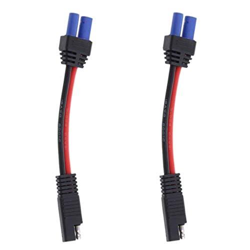 F Fityle 2X Cable 1-48V SAE a EC5 Coaxial Hembra Adaptador de...