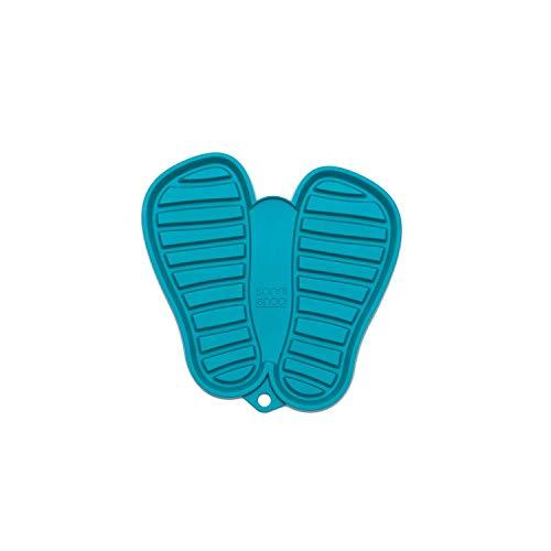 Sanni Shoo, Shoo.pad, Flexible, waschmaschinen-Feste Schuh-Abtropf-Matte, Schuhablage, Schuhabtropfschale, Abtropf- und Schmutzfang-Matte für Kinderschuhe S (bis Schuhgrösse 31) türkis